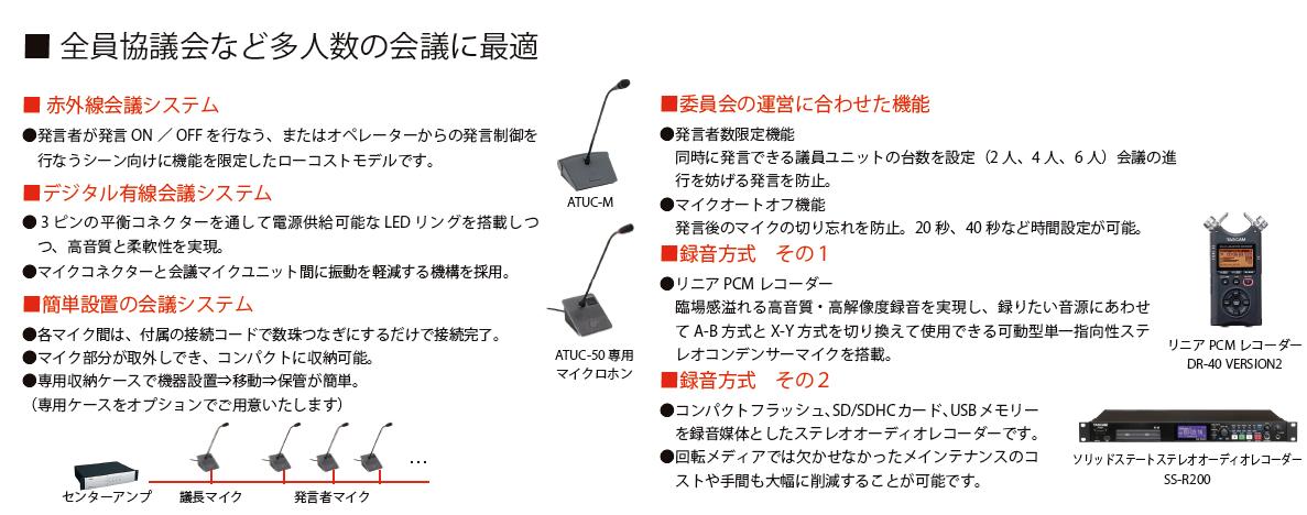 議場録音システム